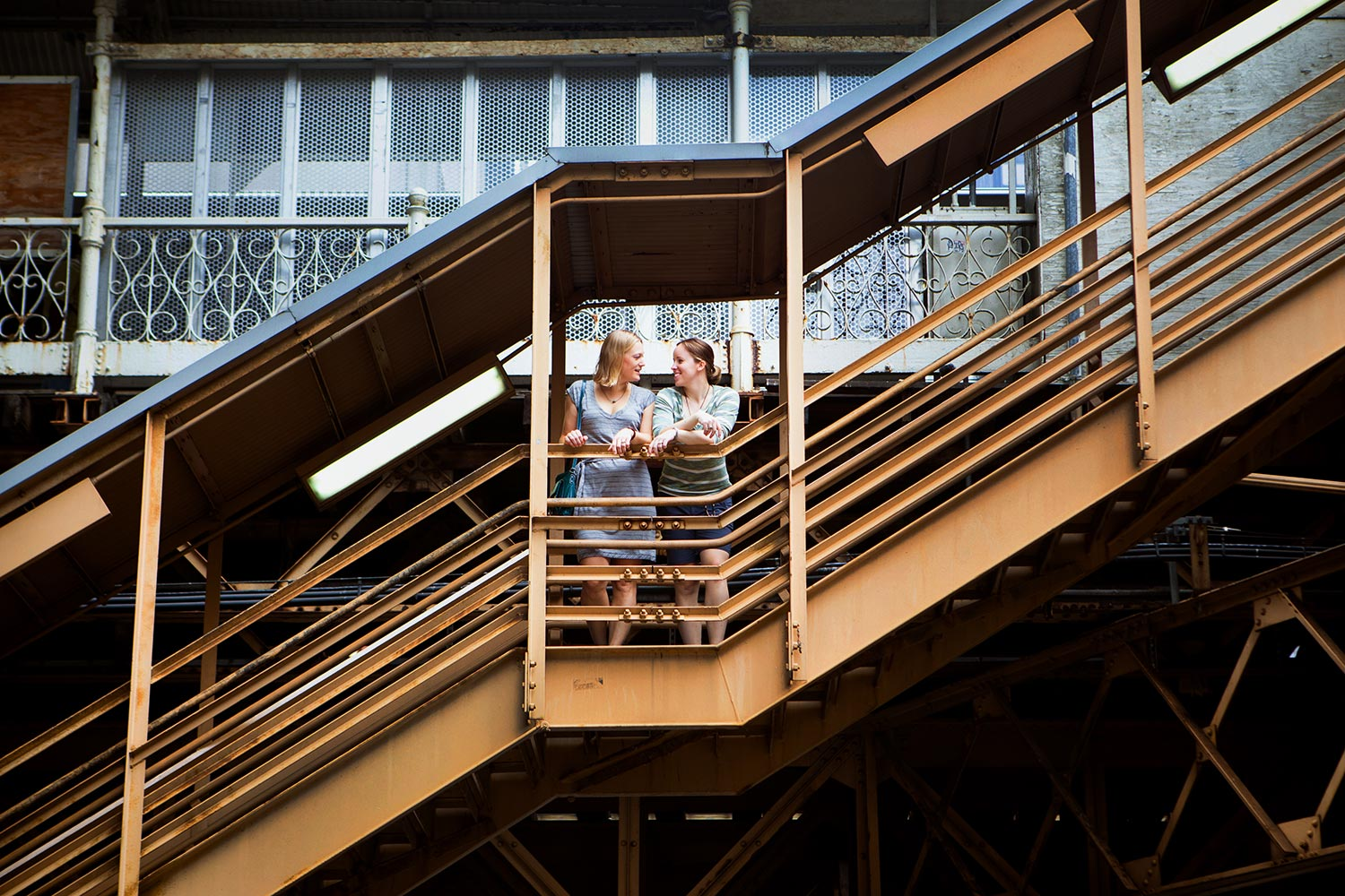 Chicago L train engagement same sex Minneapolis Photographer