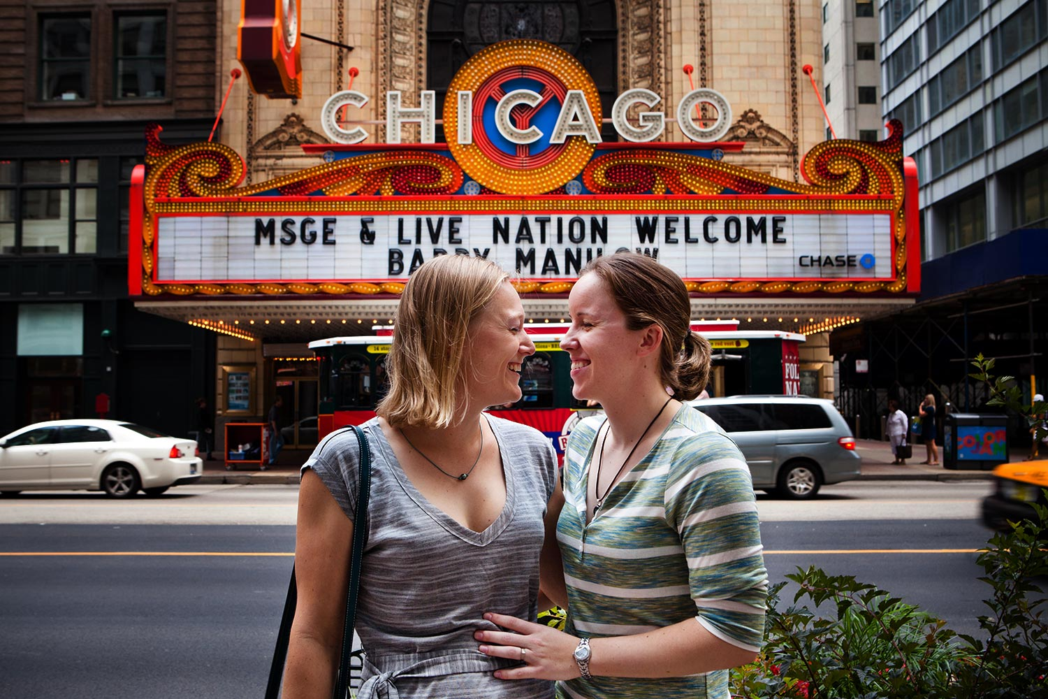 Chicago Theater Engagement Photography Same Sex Gay