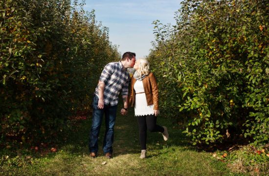 Apple Orchard Engagement Photographer Minneapolis