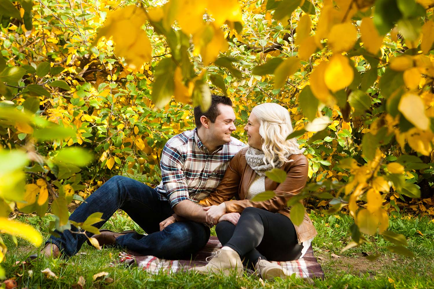 Illinois Fall Engagement Photography Photographers