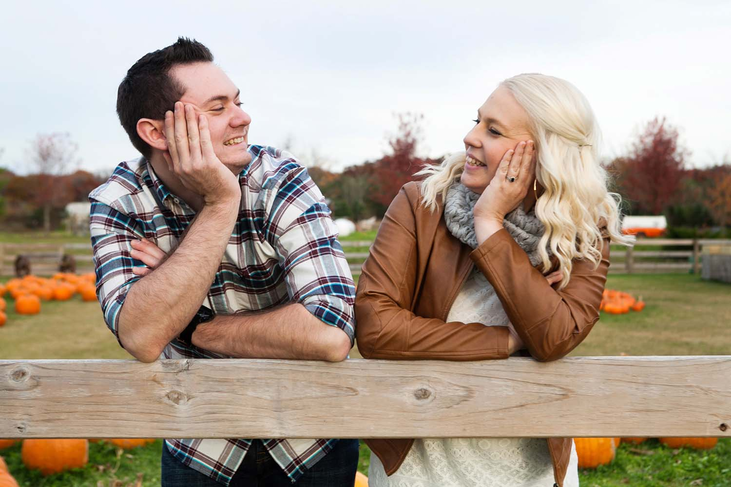 Pumpkin Patch Engagement Photo Illinois, Minnesota wedding photographer