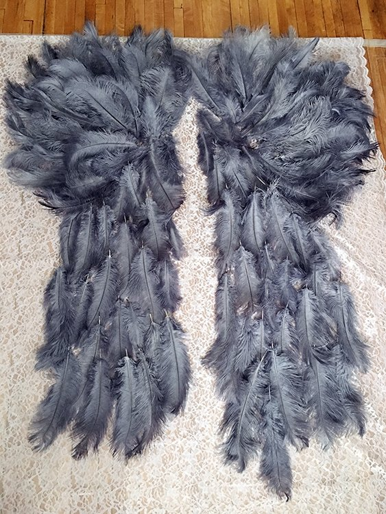 Feathers for angel wings DIY
