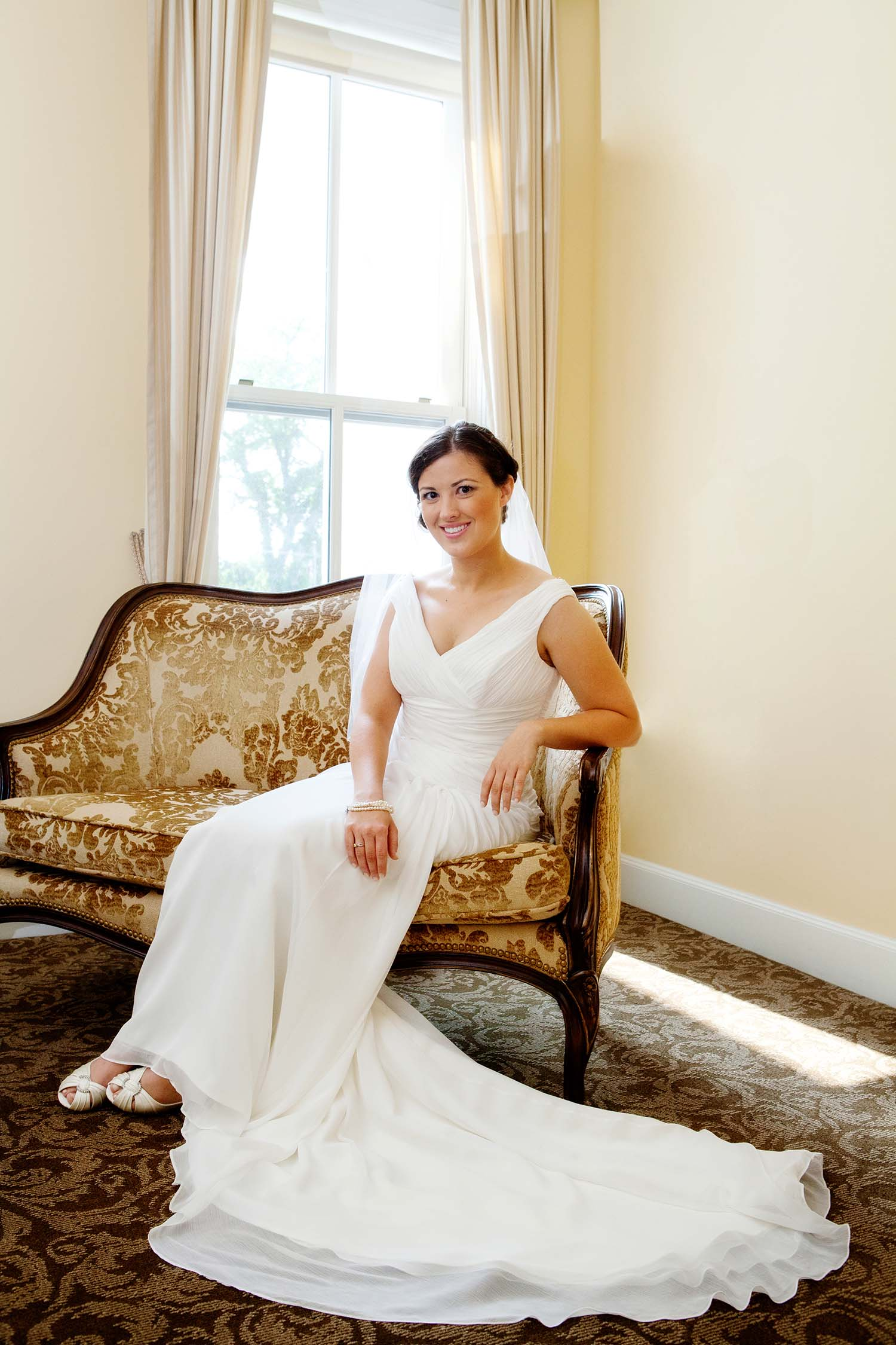 Bride Portrait Vintage Bridal Suite