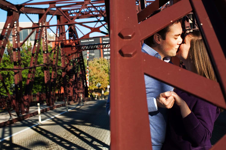 Bridge Engagement Photo Minnesota