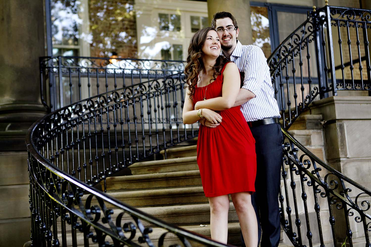Cantigny Staircase Engagement Photography Minneapolis Wedding Ph
