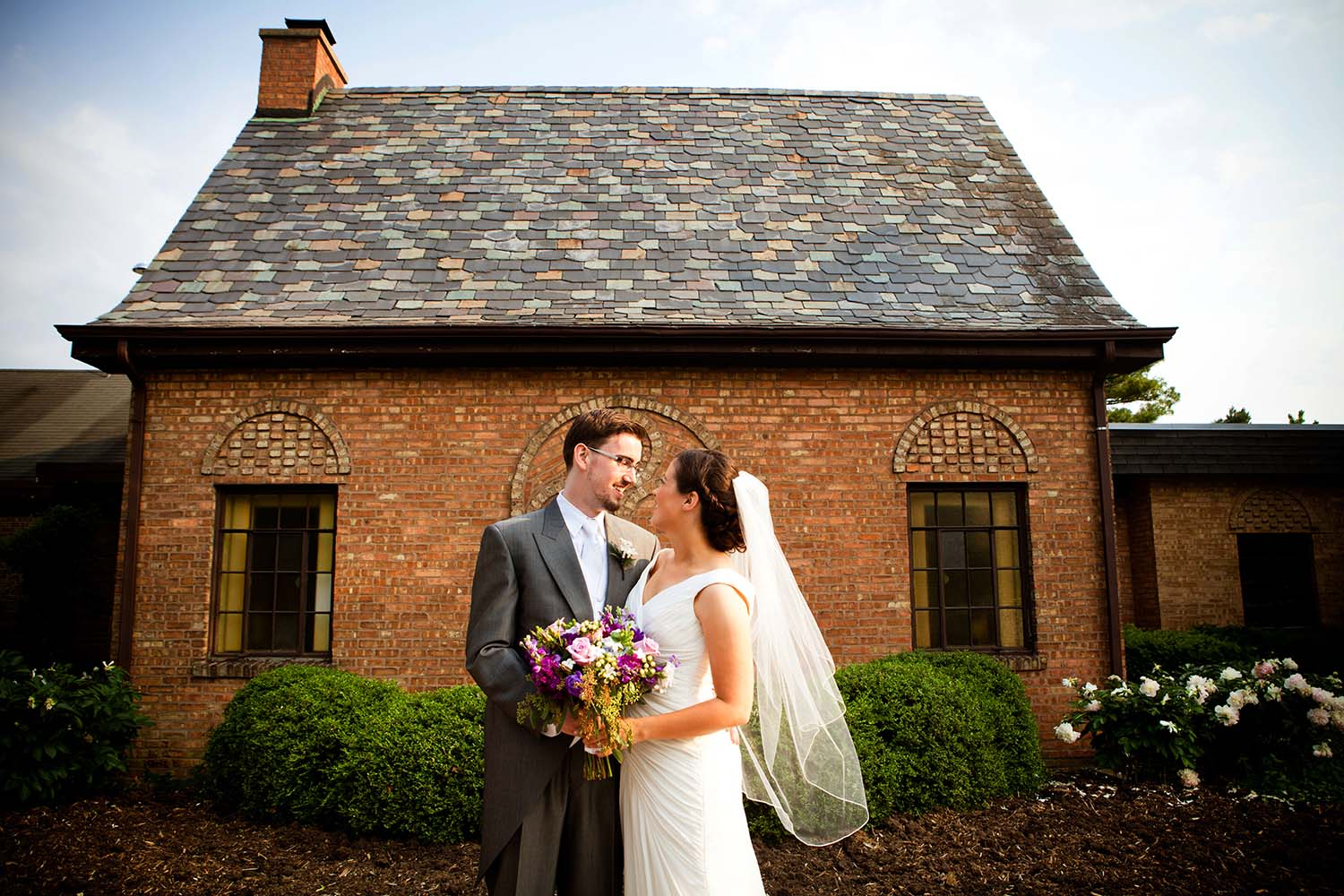 English Garden wedding portrait Elmhurst Illinois Wilder Mansion