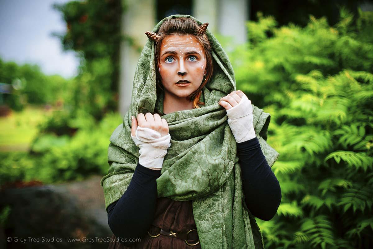 Fawn Minnesota Renaissance Fair Actor Head shot Photographer Elf  deer