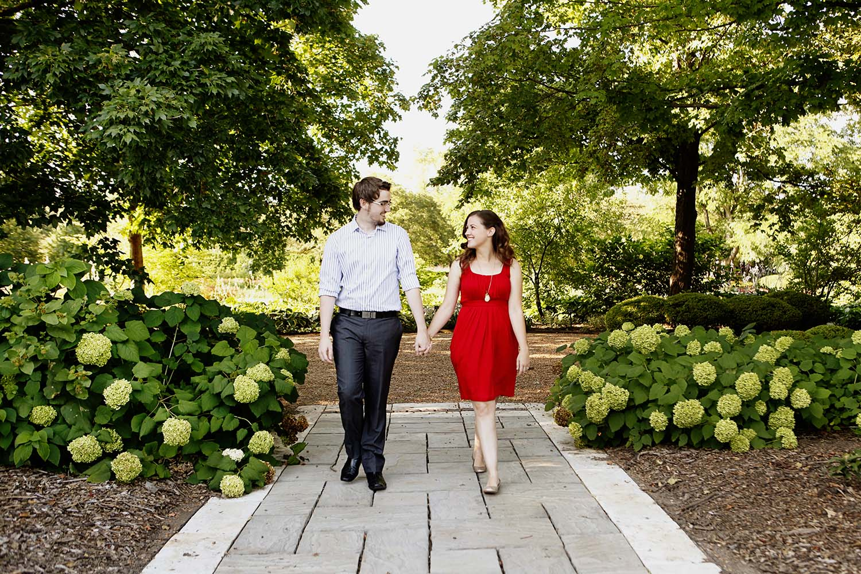 Engaged couple walking through Cantigny gardens park, Illinois, wedding, photographer, Minneapolis, Minnesota, Twin Cities, photography