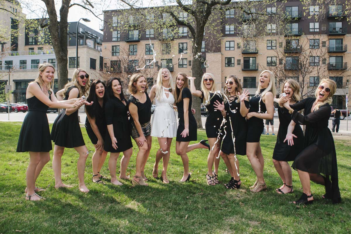 Group photography Minneapolis Wedding Photographer Bachelorette Party Portraits MSP St Paul Minnesota