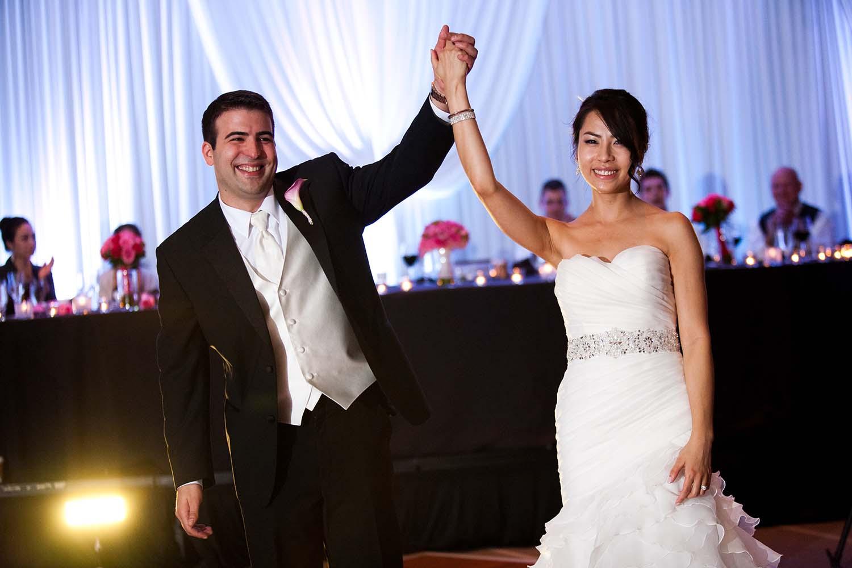 Bride and Groom introduction wedding reception