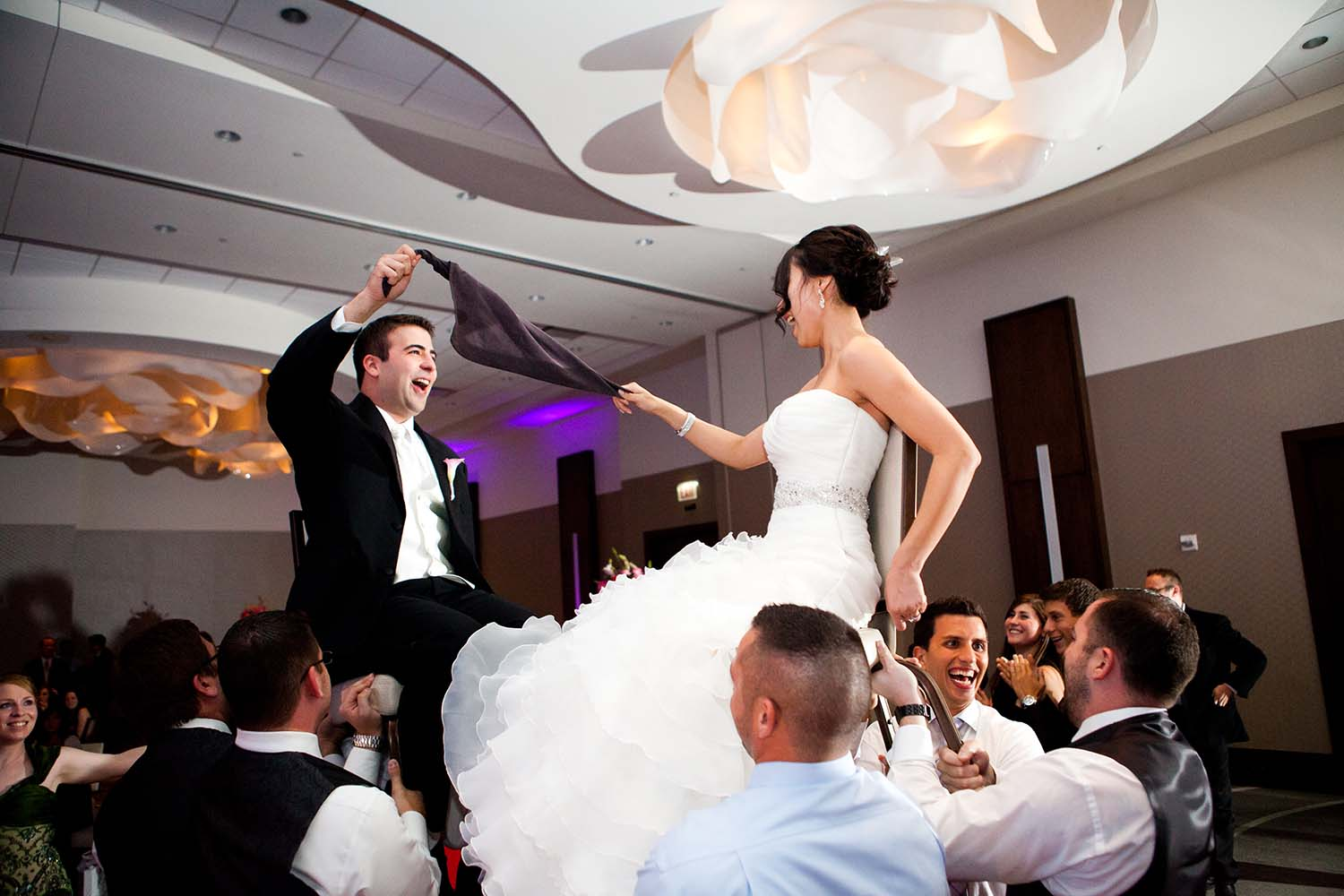 Bride Groom Jewish Wedding Horah Chair Dance