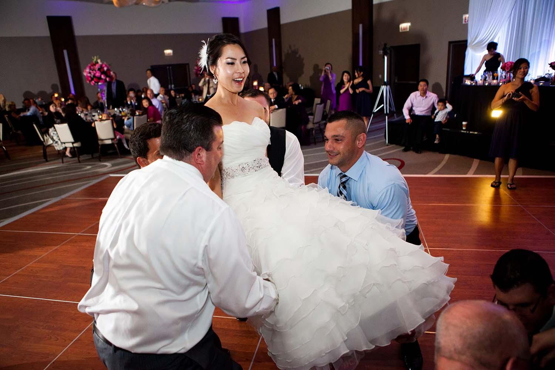wedding loews hotel, Bride chair dance, Jewish wedding reception, Asian bride, Chicago Wedding