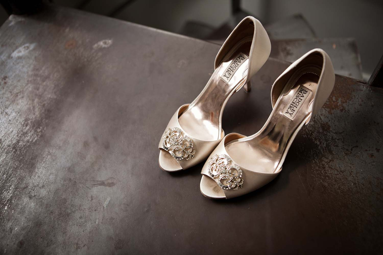 Brides Wedding shoes detail high heels