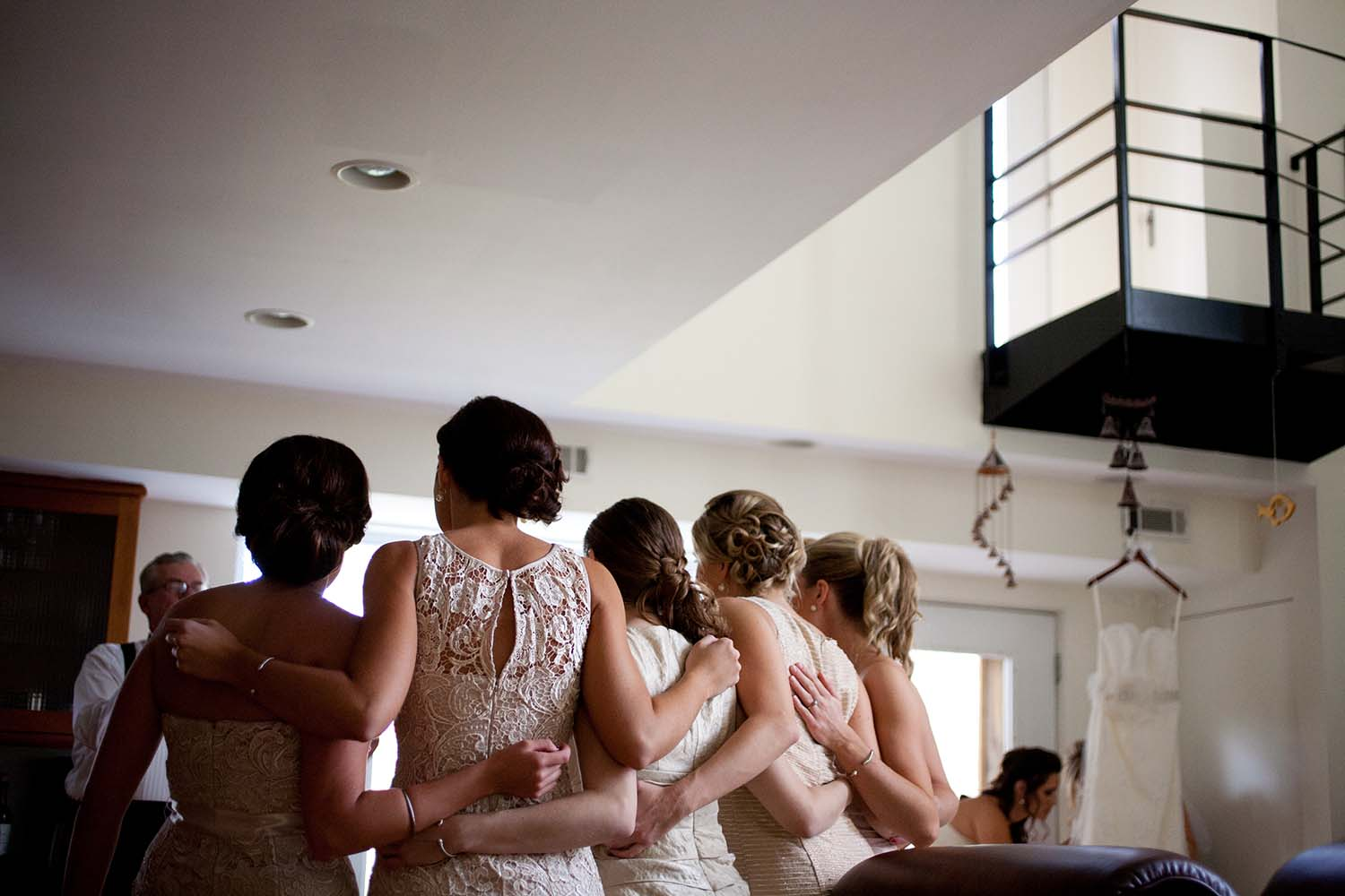 Candid bridesmaids photo, wedding day getting ready photography, Minnesota Wedding Photographers