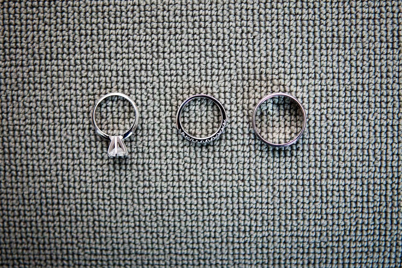 Bride groom wedding rings details