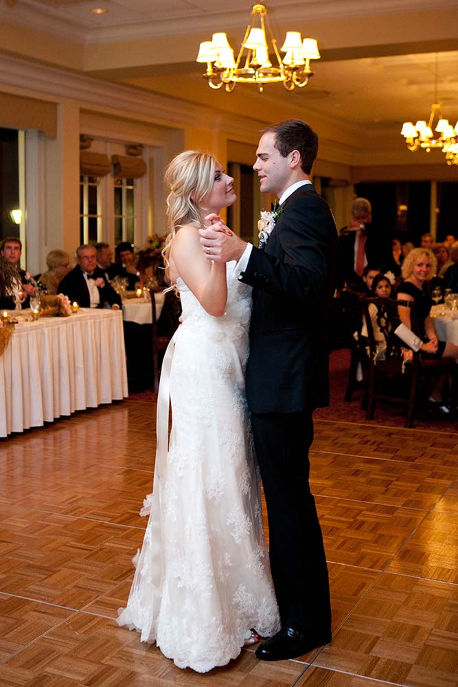 Kristina & John Married, Park Ridge Country Club wedding reception first dance