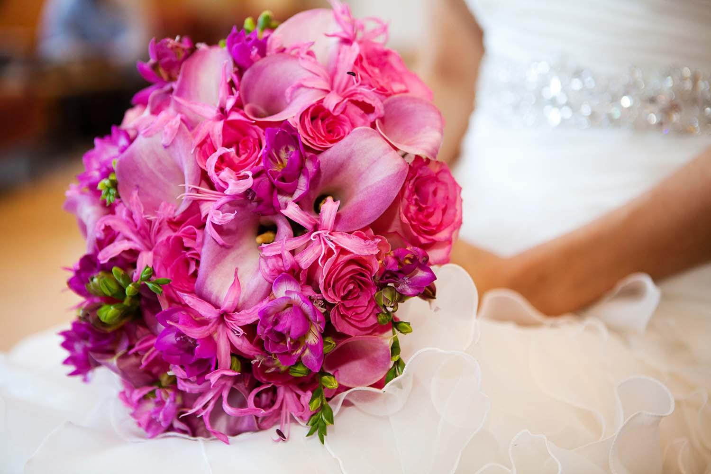 Pink wedding bouquet detail, Minneapolis Wedding Photographers