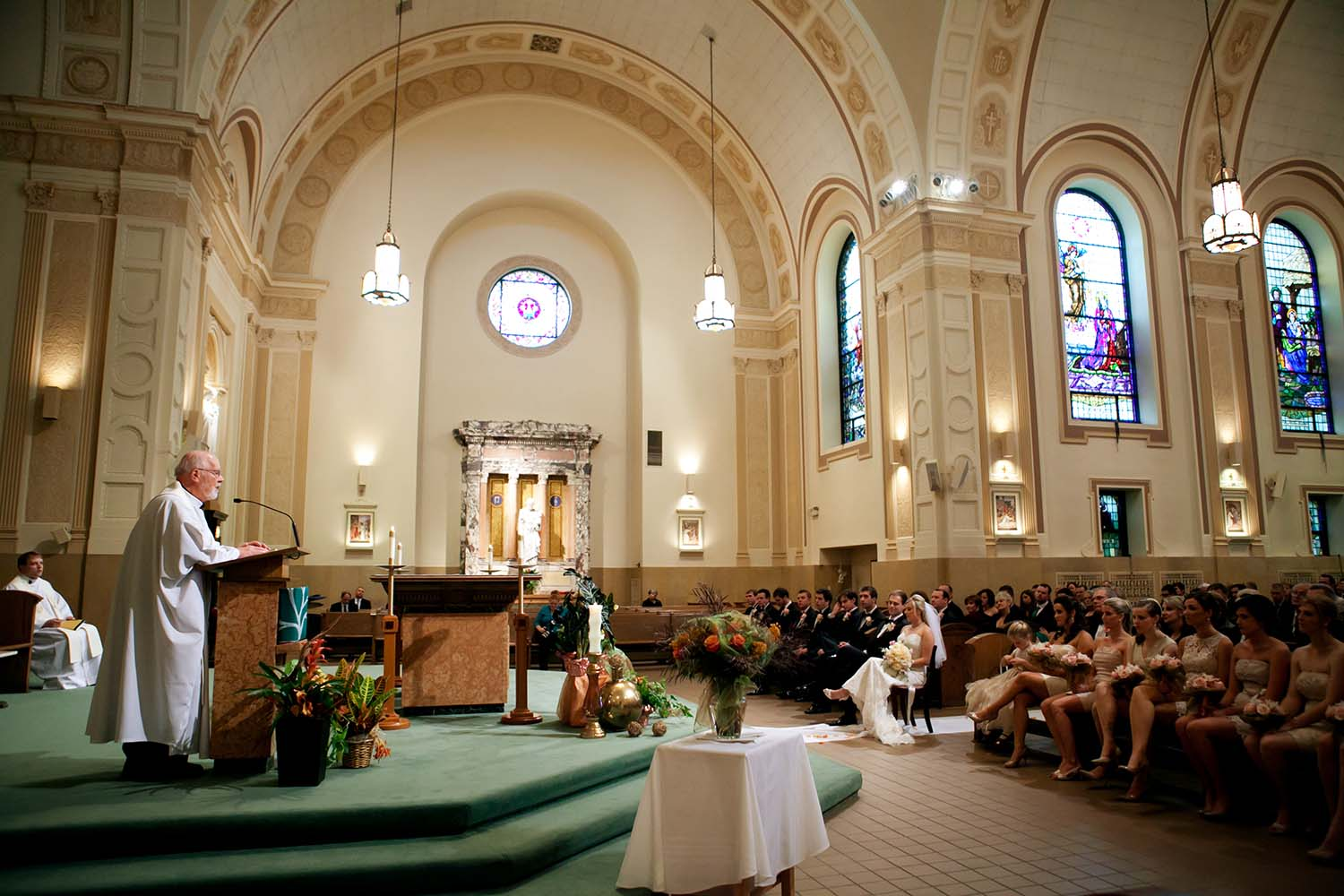 St. Francis Xavier Parish, La Grange, IL wedding ceremony
