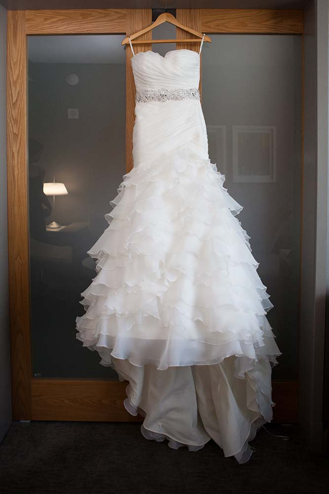 Wedding dress detail photo. Minneapolis Wedding Photographer