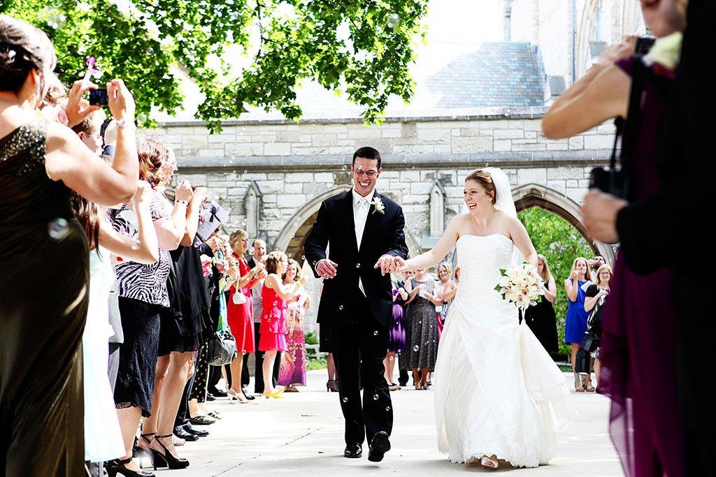 Alice Millar Chapel Bubble Exit Wedding