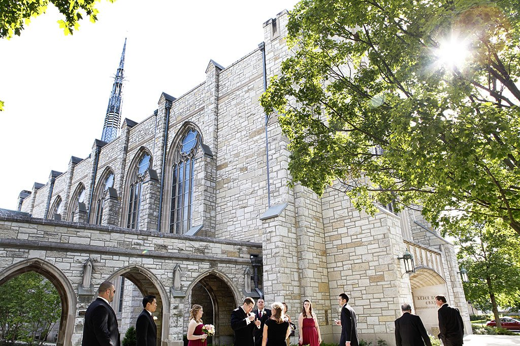 Alice Millar Chapel Evanston Wedding Party, Erin & Joe