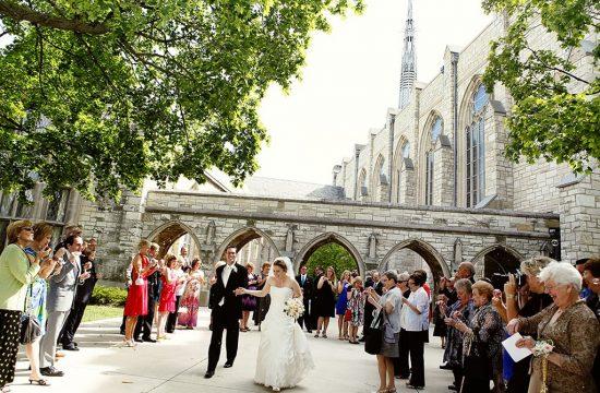 Alice Millar Chapel Exit Northwestern University, Chicago Wedding Photographer