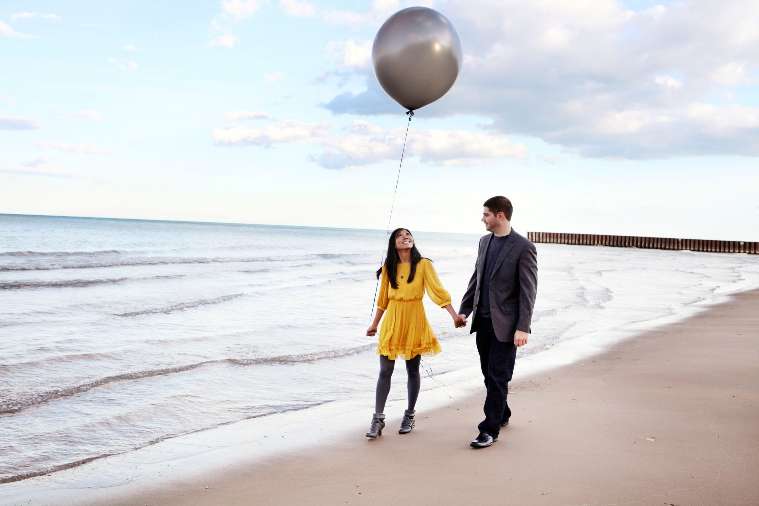 Balloon Beach Evanston Engagement Photography