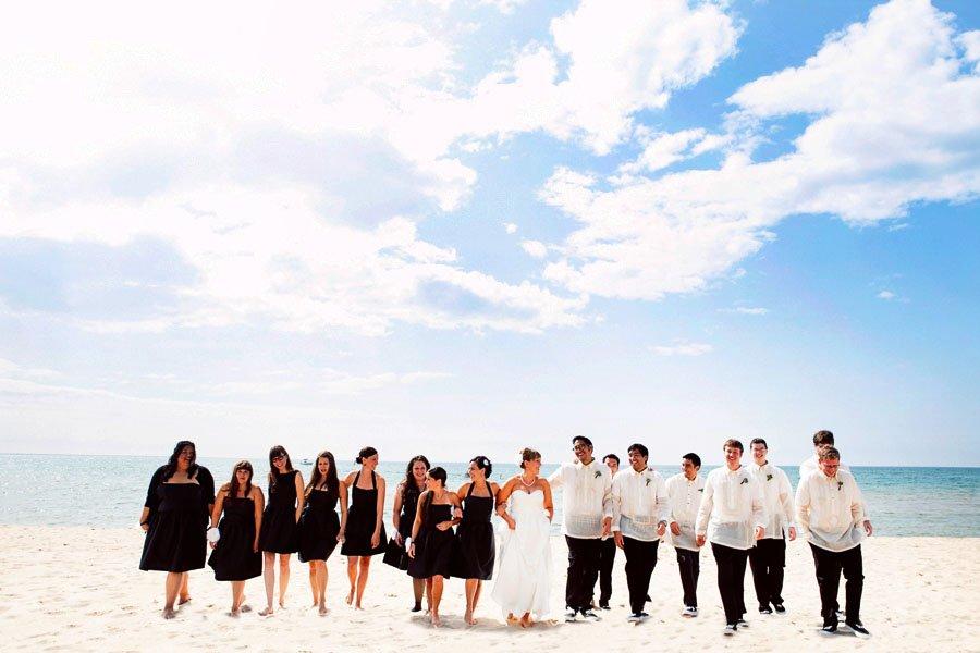 Beach Bridal Party Portrait Minneapolis Wedding Photographer