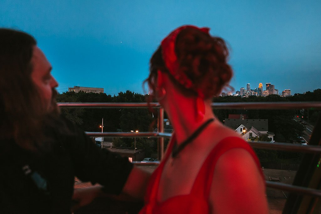 Betty Dangers Minneapolis Skyline Engagement Photographers Payton & Tim