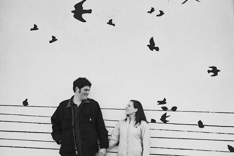 Birds on a Wire Graffiti Chicago Engagement Photographer, Minneapolis Wedding Photographer