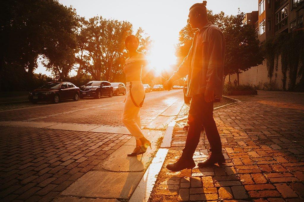 Brick Road St Anthony Main Minneapolis Engagement Photographers, MPLS, Twin Cities, Saint Paul, Minnesota