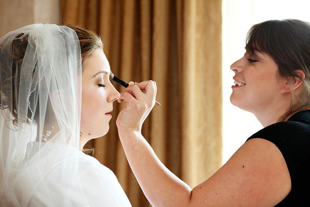 Bridal Makeup Chicago Wedding Photographers, Erin & Joe