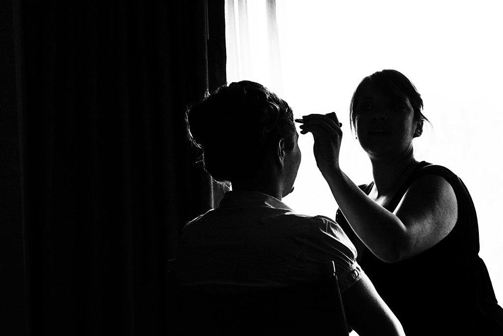 Bridal Makeup Photojournalism Wedding Photography, Minneapolis Wedding Photographers, Erin & Joe