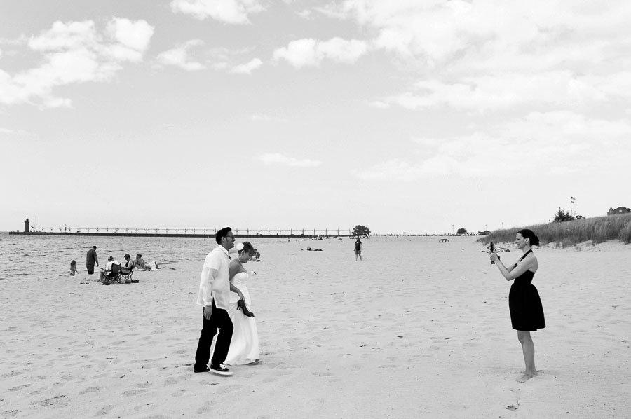 Bride Groom Beach Candid Documentary Wedding Photography