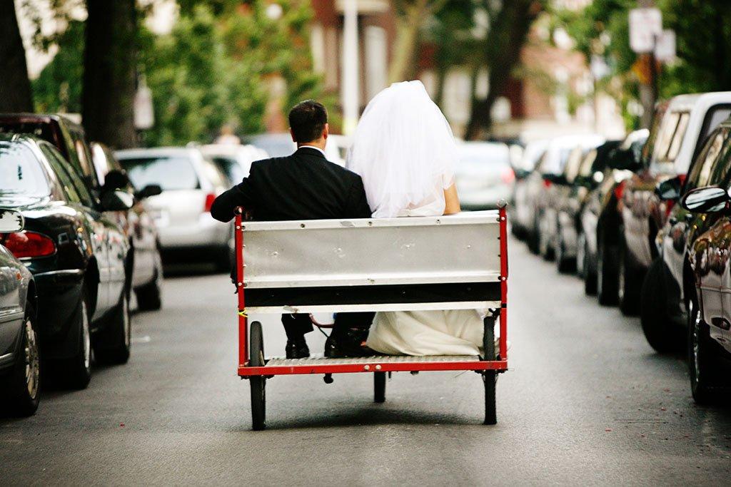Bride Groom Bicycle Ricksha, Minneapolis Wedding Photography
