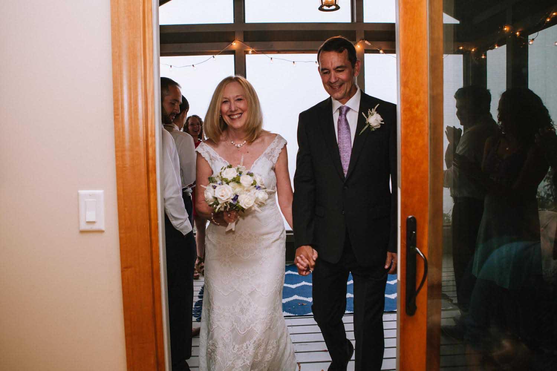 Bride Groom Ceremony Exit Two Harbors MN Wedding Photography Minnesota Kim & David's Wedding