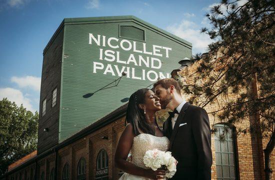 Bride Groom Nicollet Pavilion Minneapolis Wedding Photographers