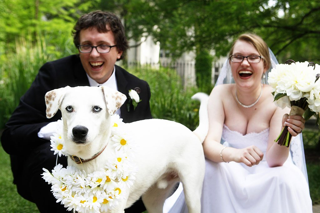 Bride Groom Pet Dog, Mame & Eric
