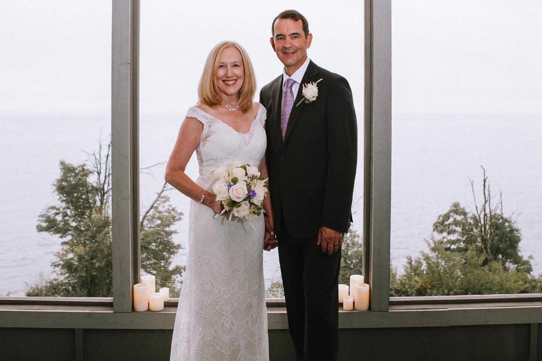 Bride Groom Portrait Two Harbors MN Wedding Photography Lake Superior. Minneapolis Wedding Photographers Kim & David's Wedding