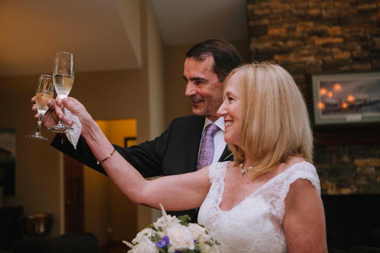 Bride Groom Toast Two Harbors MN Wedding Photography Minneapolis