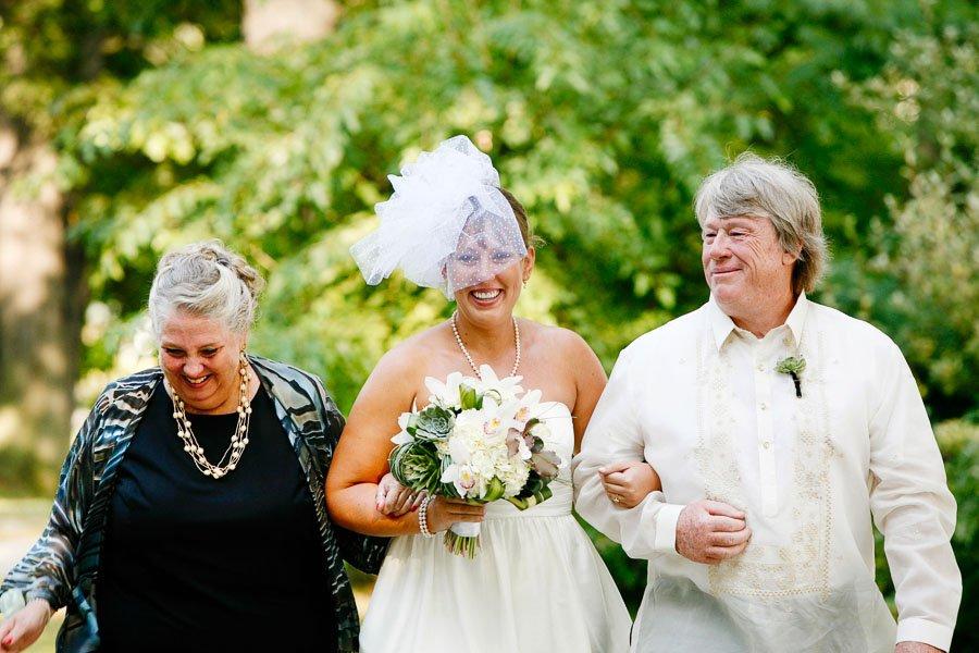 Bride Walking Aisle Stanley Johnston Park