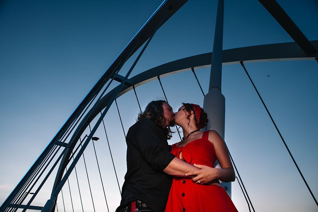 Bridge NE Minneapolis Engagement Photography