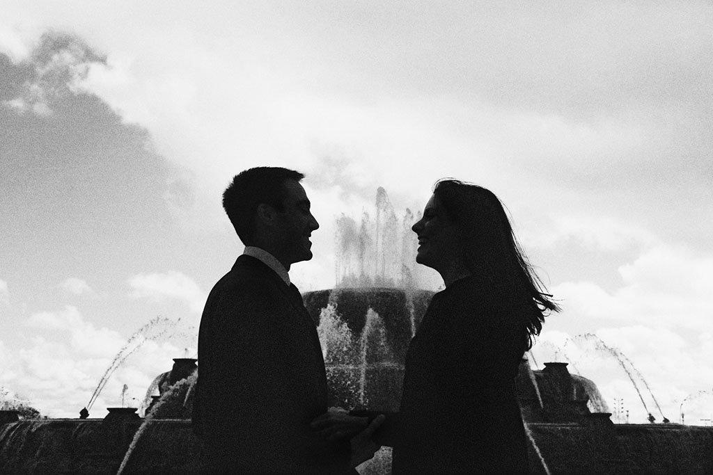 Buckingham Fountain Chicago Engagement Photographer, Grant Park, Chicago Wedding Photographers, Zach & Katie