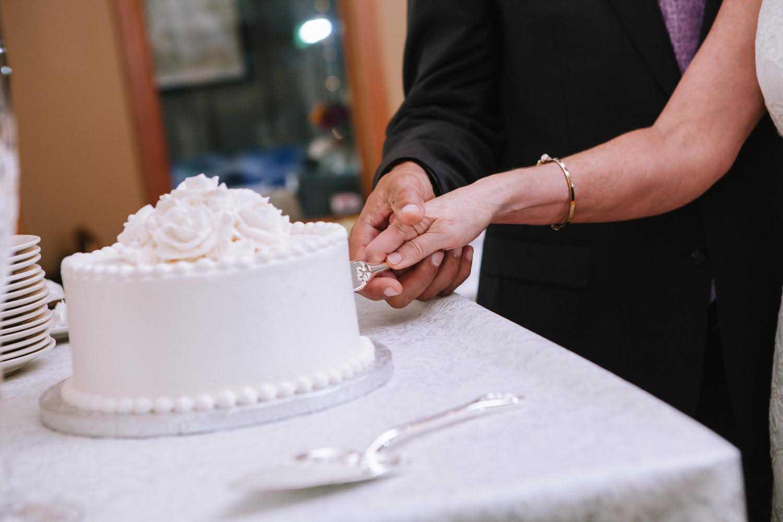 Cake Cutting Minneapolis Wedding Photographer Destination Two Harbors Kim & David's Wedding