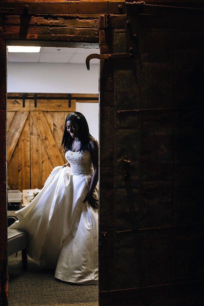 Bride Candid Minneapolis Wedding Photography, Nicollet Island Pavilion Wedding