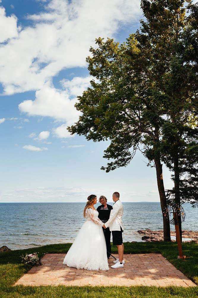 Ceremony Lake Superior Larsmont Cottages Two Harbors MN Wedding, Elopement Micro Weddings, St Paul Wedding Photography, Minneapolis Wedding Photographer, Minnesota