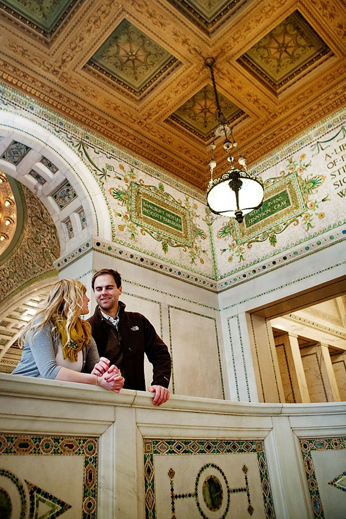 Chicago Cultural Center Engagement Photography