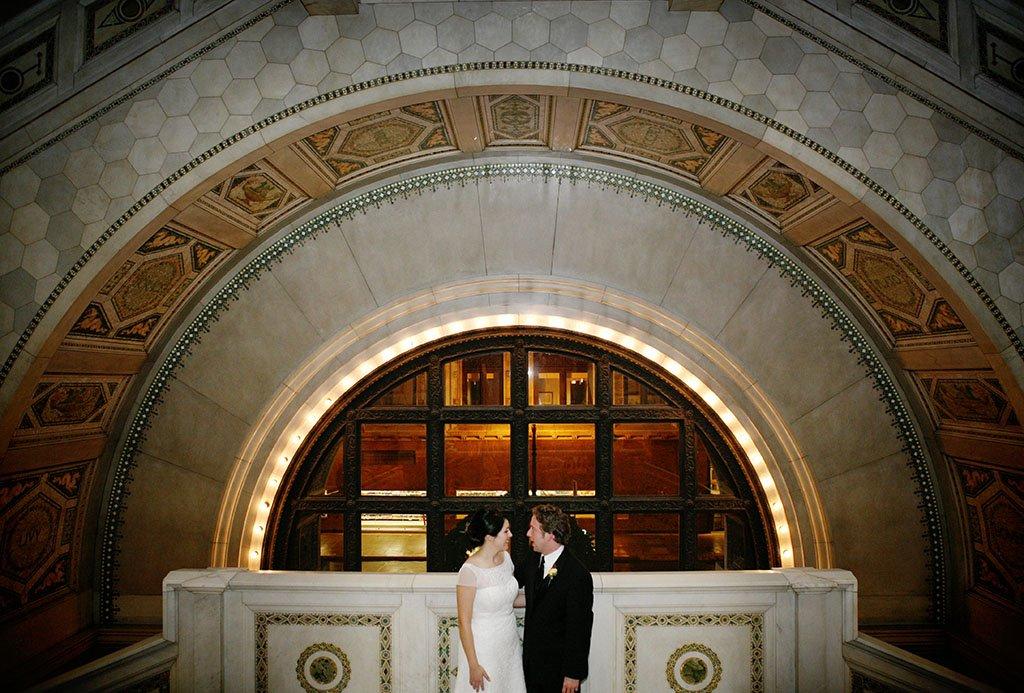 Chicago Cultural Center Wedding Photography Portraits, Bride and Groom, Chicago Wedding Photographer