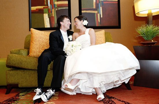 Converse Sneakers Groom Wedding Portrait
