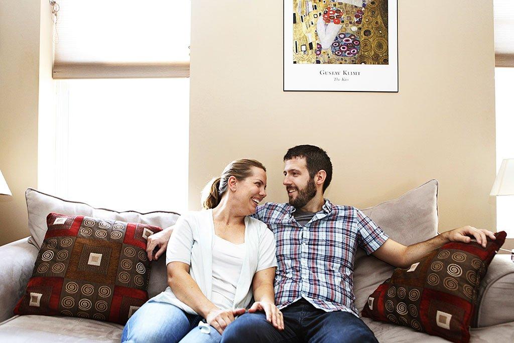 Couples Apartment Minneapolis Engagement Photographer, St Paul Wedding Photographer